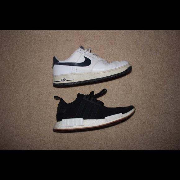 2 Sneaker Lot Nmd Nike Air Force Ones